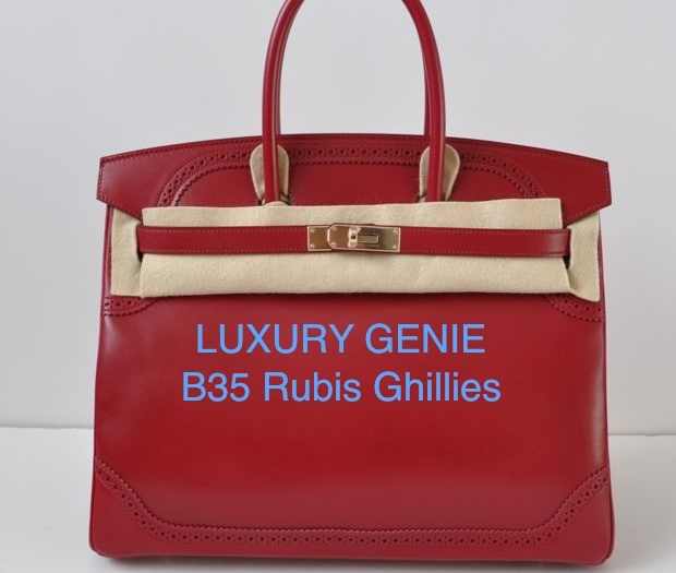 hermes rubis red togo birkin bag- 35 cm phw