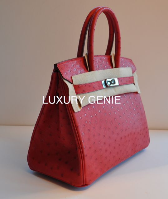 hermes inspired handbags - hermes birkin rouge vif ostrich 30cm palladium hardware, hermes ...