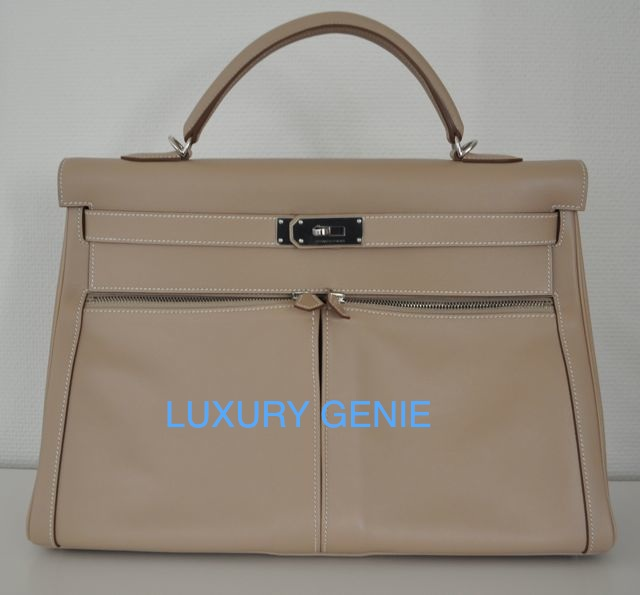 hermes bags and wallets - SOLD] Authentic hermes Kelly Lakis Argile 40cm Palladium hardware ...